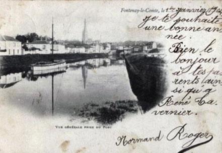 1904, l'un des derniers bâteaux gréé à voile encore présent.