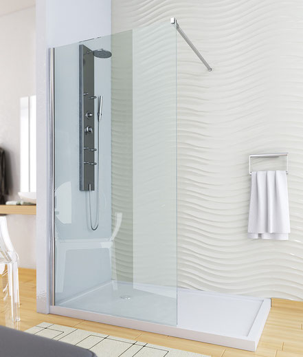 Mampara de ducha fijo (cristal transparente) en MAMPATEC (Murcia)