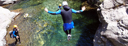 Canyoning en sud Ardèche