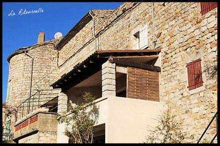 façade du gite à Ruoms en Ardèche