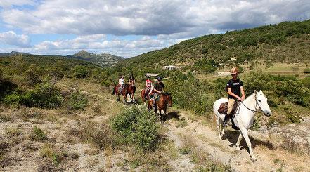 Equitation en sud Ardèche