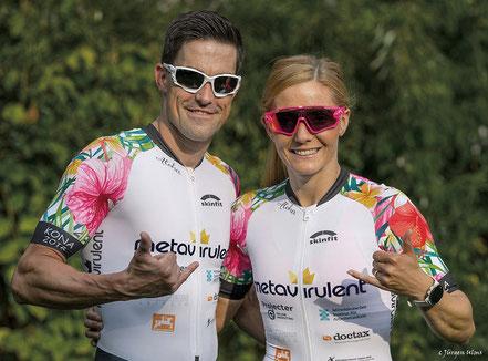 Leila Künzel und Alexander Martin, Triathlonsportler mit metavirulent