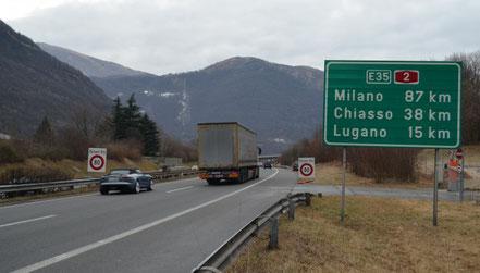 AUTOSTRADE LUGANO - CHIASSO - MILANO
