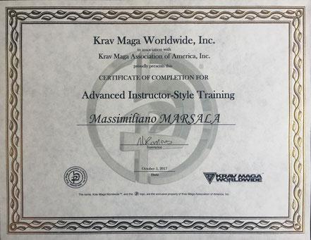 Instructor Advanced Krav Maga Worldwide Massimiliano Marsala