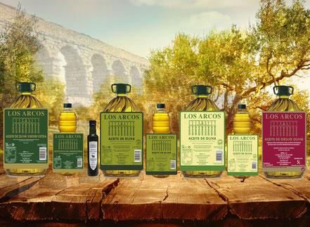 """Aceite de Oliva """"Los Arcos"""" marca reconocida con más 120 años."""