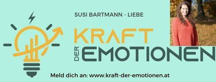 Bild: Onlinekongress Kraft der Emotionen - Liebescoach Susi Bartmann im Interview