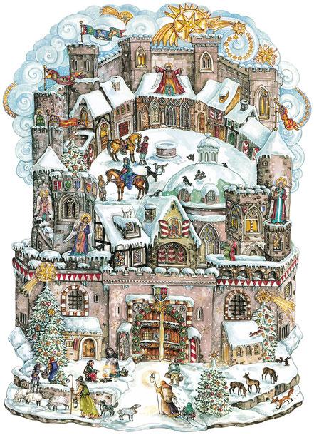 """Adventskalender """"Die Weihnachtsburg""""  © ars Edition"""