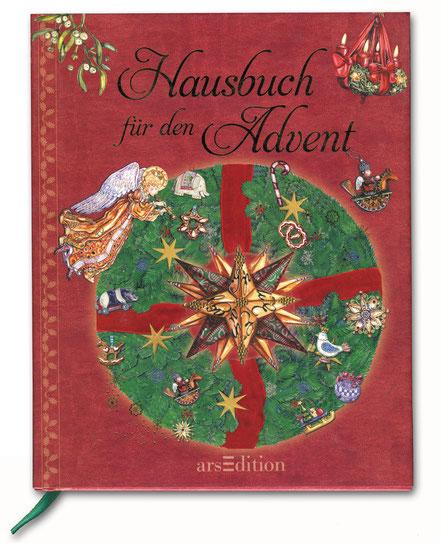 """Buchcover """"Hausbuch für den Advent"""" Adventskranz mit Engel"""