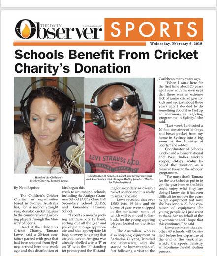 Antigua Observer, Feb 6, 2019.