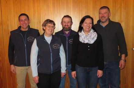 Der Vorstand: v.l.n.r. Bernhard F., Marie-Theres F., Erich Z., Kathrin V., Armin K.