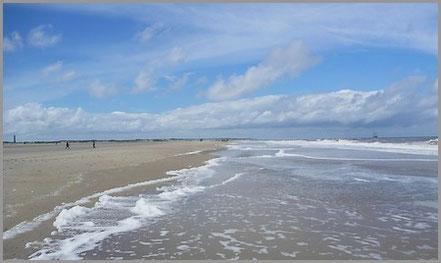 Norderneyer Strand - ganz im Osten der Insel