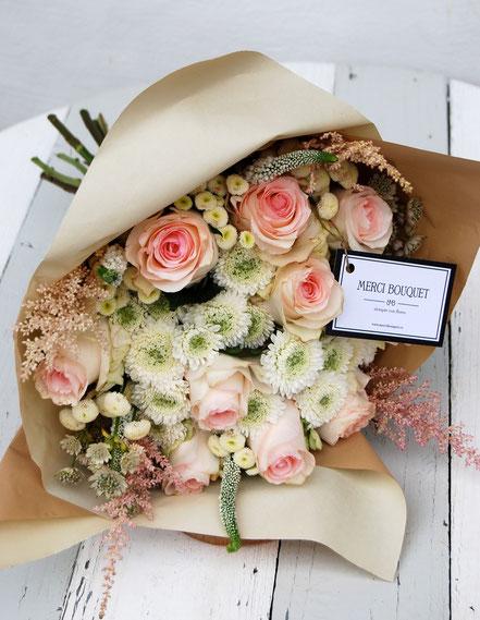 Ramo Merci bouquet 12 ó 16 rosas
