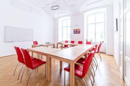 Kursraum der Sprachschule Alegría in Wien