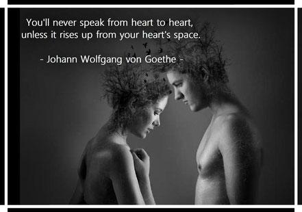 君の胸から出たものでなければ、人の胸をひきつけることは決してできない。