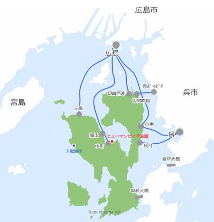 広島県江田島市アクセスマップ