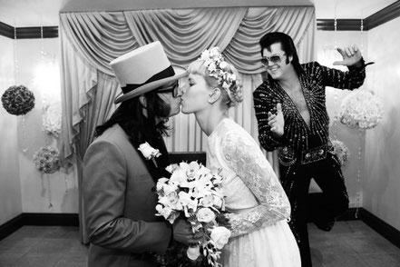 Elvis Hochzeit in der Graceland Wedding Chapel Las Vegas