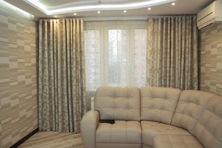 шторы на заказ, шторы для гостиной