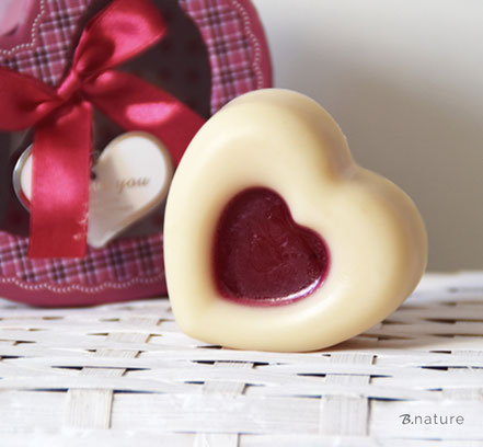 B.nature I Handmade Milk Soap Hearts
