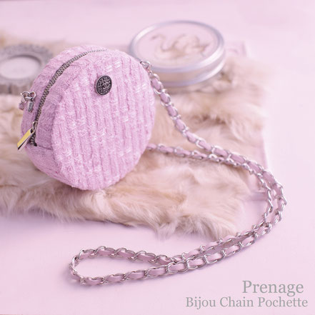 Bijou Chain Pocette リントンツイード