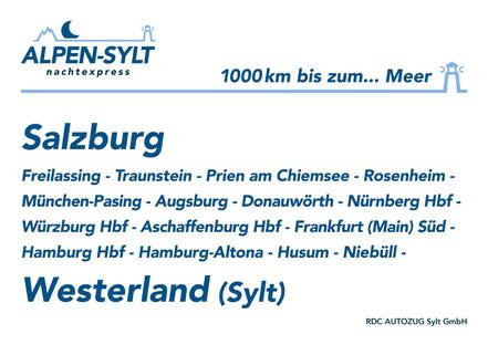 MAG Lifestyle Magazin Reisen Urlaub Deutschland Österreich Bahnreisen Nachtzug Liegewagen Sylt Salzburg