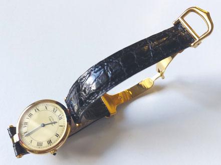 MAG Lifestyle Magazin online Le Must de Cartiere Uhren Vermeil Tank round  80er Jahre vintage Klassiker