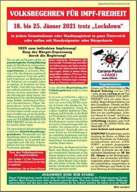 mag lifestyle magazin online spaziergang bad aussee salzkammergut österreich demonstration gegen corona zwangsmassnahmen covid impfung coronaimpfung lockdown