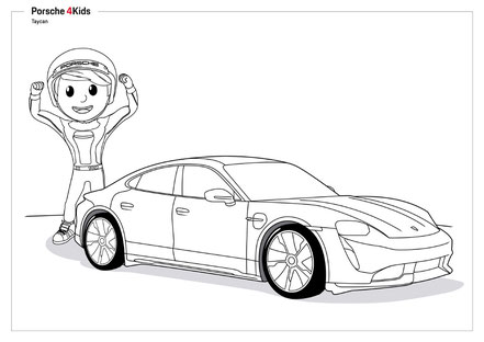 Porsche kids gratis Spiele Ausmalbilder Bastelanleitungen Buchstabensalate Memory Puzzle Suchbilder