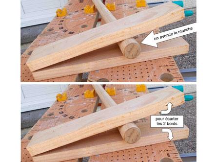 Comment fabriquer un cheval de bois : fabrication de la tête du cheval Beau Prince.