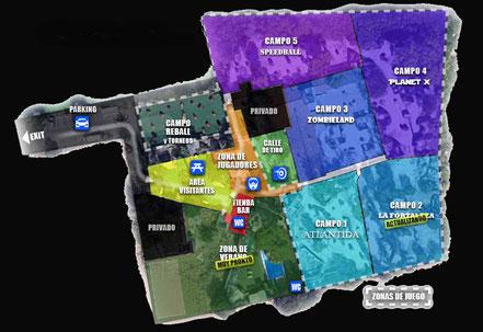 mapa del campo de paintball