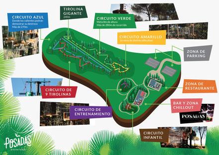 Circuito de aventuras en la naturaleza en los árboles de Córdoba