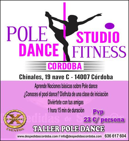 taller de pole dance para grupos en cordoba