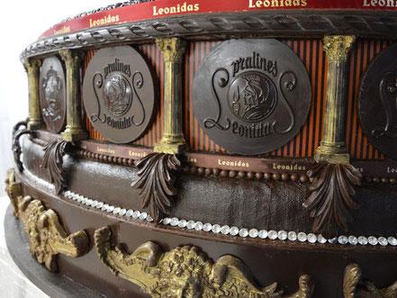 sculpture Leonidas en chocolat pour le salon du chocolat paris 2013