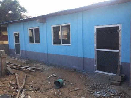 La nouvelle salle de classe en cours de construction