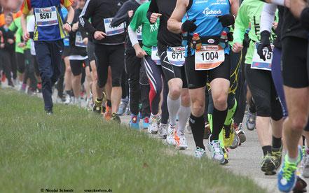 Start beim Freiburg Marathon