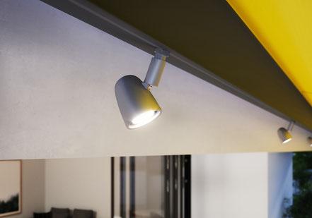 markilux Spots LED Dimmbar Kassettenmarkise mit somfy io FUNK Spots