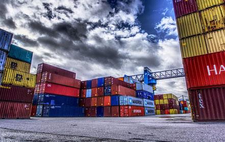 Containerschiff, Ethereum, Blokchain