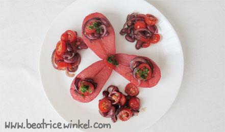 Beatrice Winkel - Preiselbeeren-Birne mit Bohnen-Salat