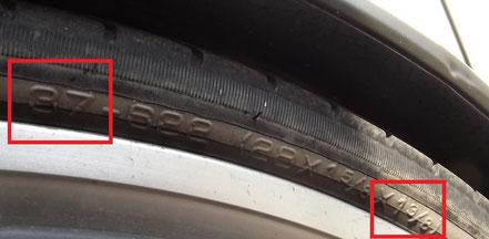 Beispiel Reifenbreite