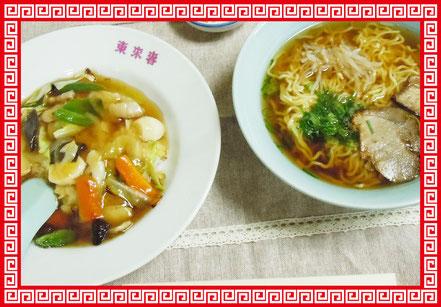 東来春 中華丼ランチ 写真