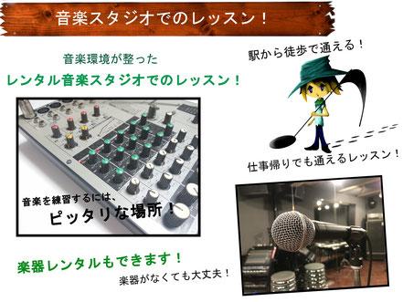 Growth Music School レッスン場所