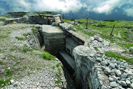 Schützengraben am Monte Piano