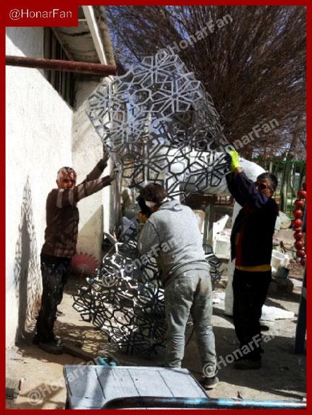 شرکت سازنده المان شهری و مبلمان های شهری طراحی شهری اسلیمی