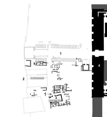 Karnak - Parvis du Temple - Dromos - Chapelle d'Achoris - Rampes d'accès Taharqa - Obélisque Séthi II
