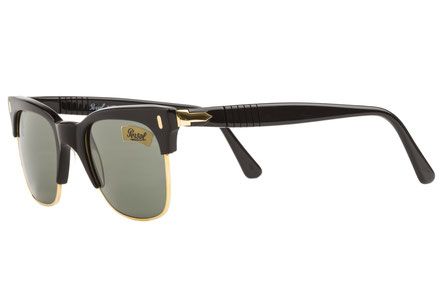 Occhiali vintage Persol Ratti Modello: Cellor. Colore: Nero. Colore lenti: verde. Protezione raggi UV: 100% Made in Italy
