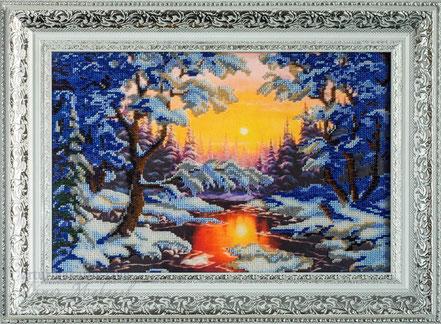 фотография картины, вышитой бисером - Hand Made