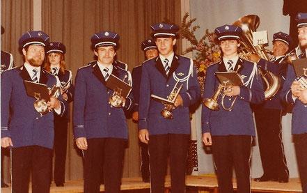 Man sah bei den Musikanten sofort an, dass sie Stolz auf die neue Uniform waren.