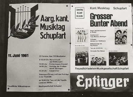 Kantonaler Musiktag 11. Juni, 1961 in Schupfart