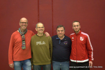v.l: Sandro Hirth, Harald Szislo, Heinz-Otto Hassel und Pierre Fuchs
