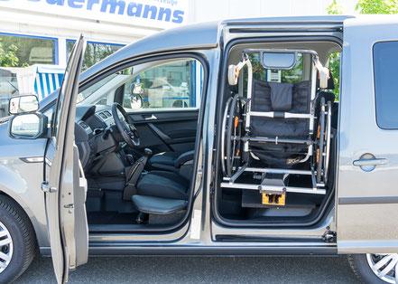 Volkswagen Caddy Rollstuhlverladesystem