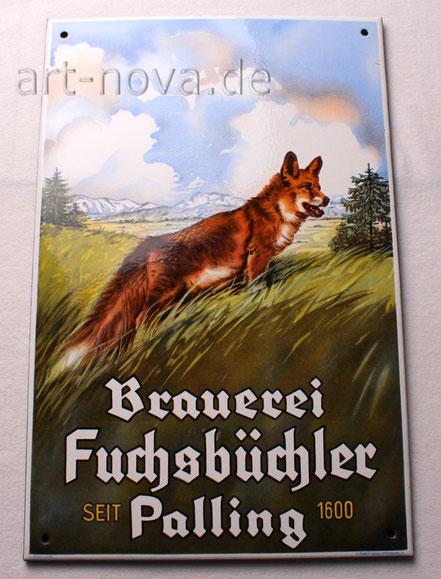 Emailschild Brauerei Fuchsbüchler Palling